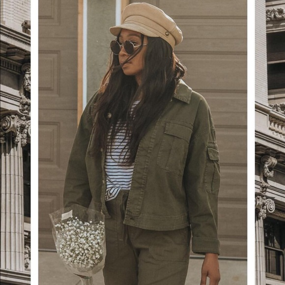 Jackets & Blazers - Lou and grey utility jacket in green